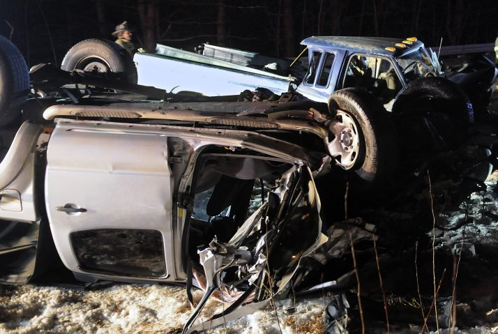 A Farmingdale man was convicted Tuesday of aggravated criminal operating under the influence and aggravated assault in connection with this January 2016 crash on Route 9 in Chelsea that injured three people.