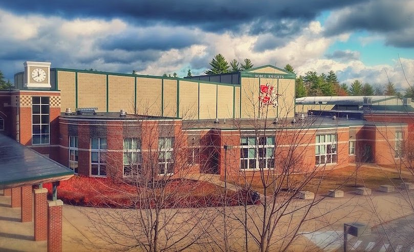 A transgender teen who was kicked out of a Christian academy in New Hampshire says he likes the way he has been accepted at Noble High School in North Berwick.