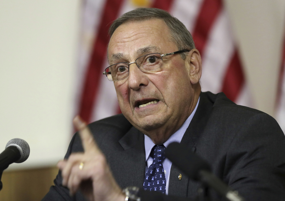 Controversial statements attributed to Maine Gov. Paul LePage became fodder for fake social media accounts.
