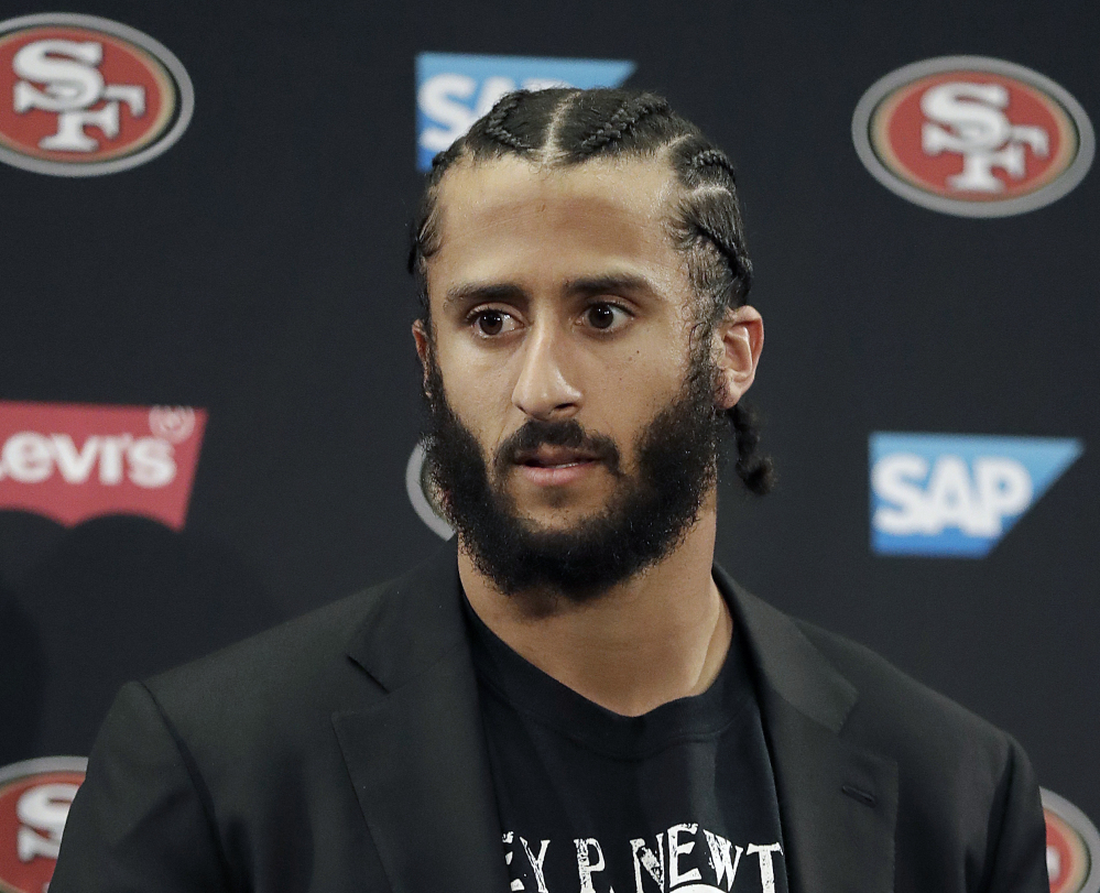 NFL players began kneeling during the national anthem over a year ago – starting with a protest against racism and police brutality by Colin Kaepernick, then quarterback of the 49ers.