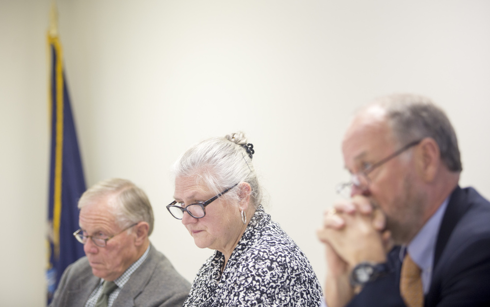 Margaret Matheson, chair of the Maine Commission on Governmental Ethics and Election Practices, begins deliberations Friday on the campaign finance case against the committees behind the York County casino referendum.