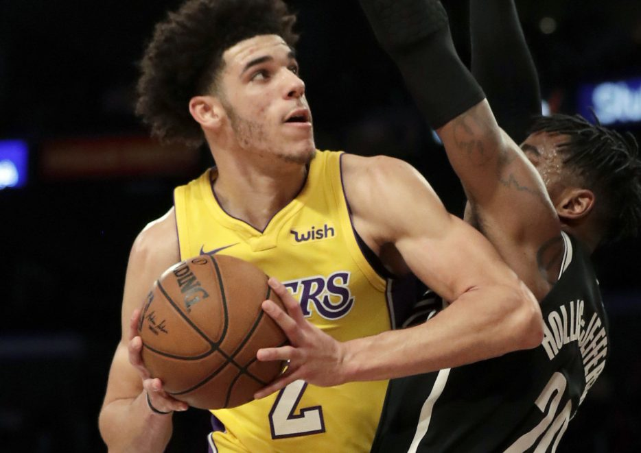 Los Angeles Lakers guard Lonzo Ball is shooting 29.9 percent from the floor this season, ranking last among 19 qualified rookies.