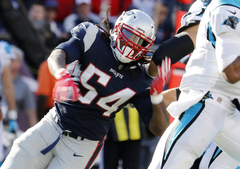 The Patriots put linebacker Dont'a Hightower on injured reserve on Tuesday. Hightower hurt his shoulder in an Oct. 22 game against the Falcons.
