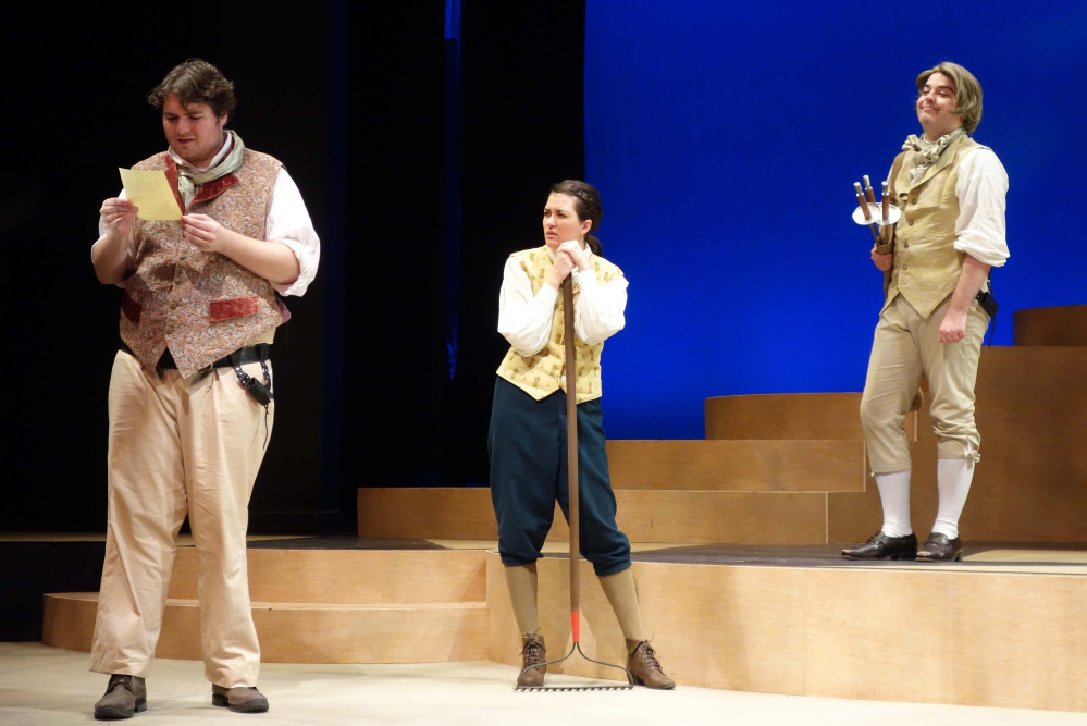 Theater review: USM students ably portray the comedic confusion of 'Twelfth Night'