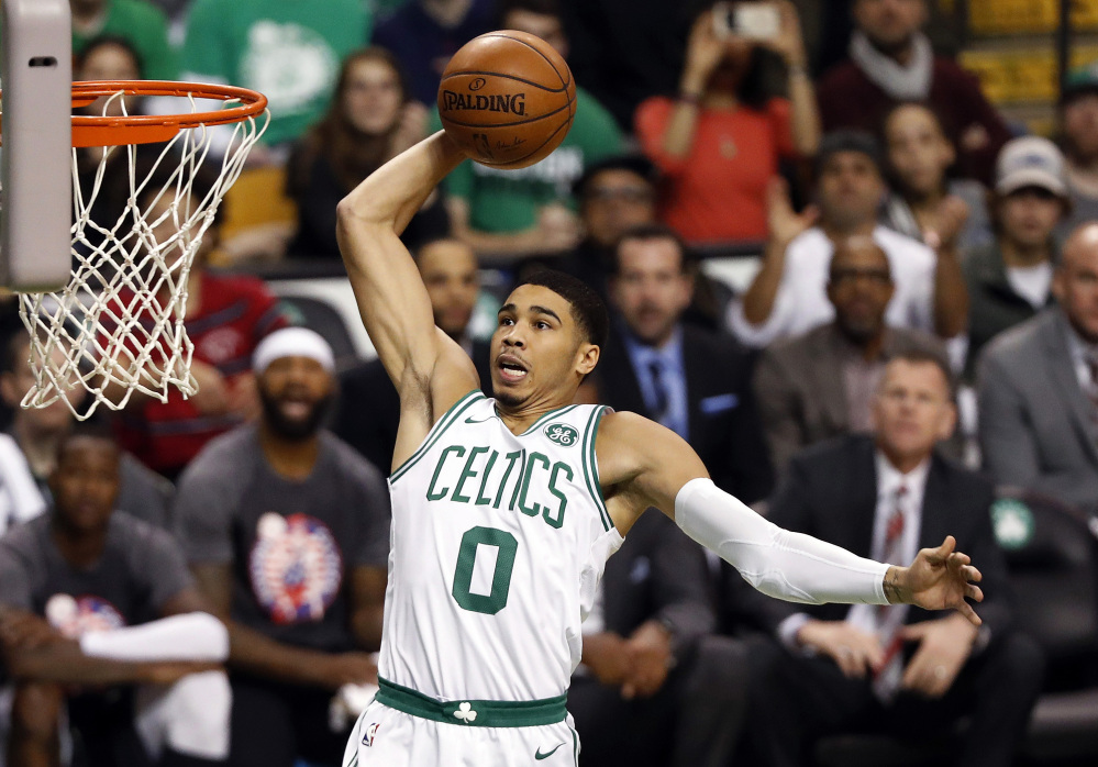 Jayson Tatum has made big plays late in games for the Celtics, which has been key with stars Gordon Hayward, Al Horford and Kyrie Irving all missing time.