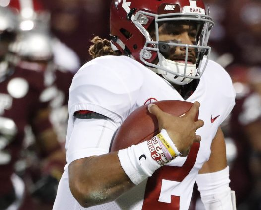 Alabama and quarterback Jalen Hurts will play Auburn on Saturday to decide a spot in the SEC championship on Dec. 2. The winner plays Georgia.