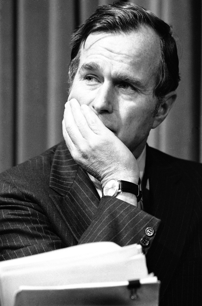 Former President George H.W. Bush is pictured in December 1975, long before his election to the White House.