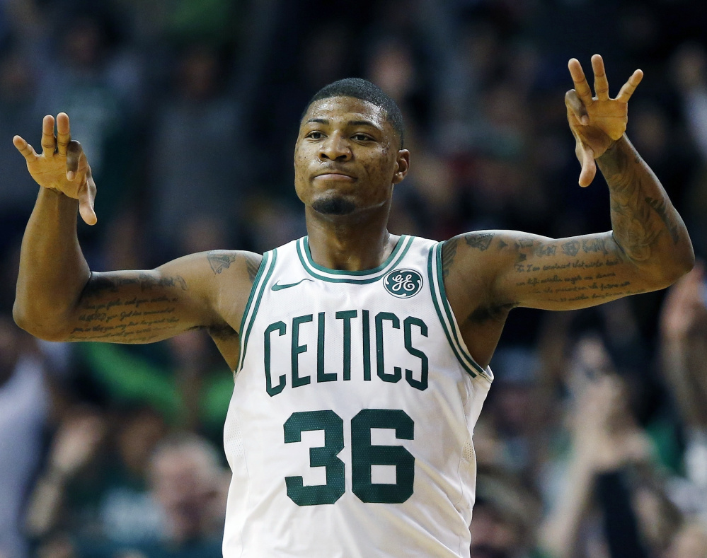 Marcus Smart, always a defensive standout for the Boston Celtics, has become a threat on offense after spending time working on his shots.