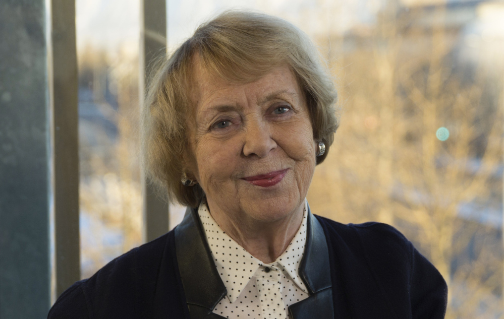 As sexual-assault victims come forward, attitudes will change, former Iceland President Vigdis Finnbogadottir says.