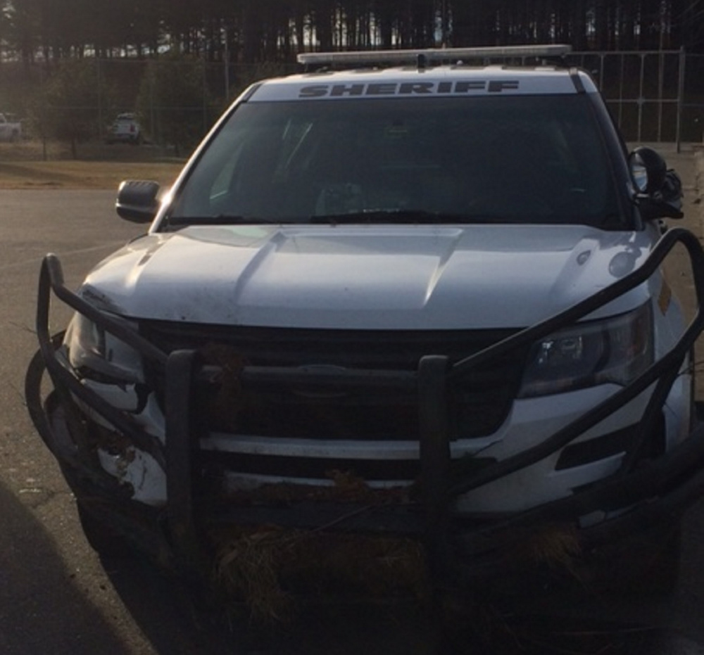 Deputy Lucas Libby crashed early Thursday as he followed a young driver thought to be suicidal. Neither was injured.