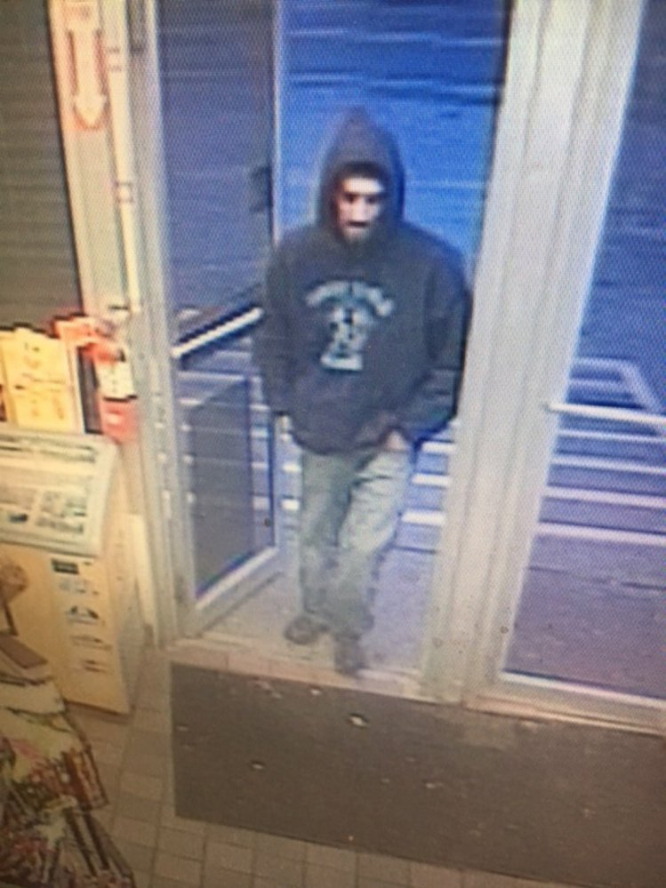 The identity of this man is being sought by Augusta police in connection with an armed robbery Sunday evening at the Big Apple convenience store on Civic Center Drive.