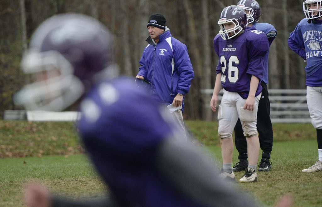 """According to Marshwood Athletic Director Rich Buzzell, Coach Alex Rotsko is successful because he gets the kids to focus. Senior Seth Aumann says, """"He teaches fundamentals and we do the fundamentals."""""""