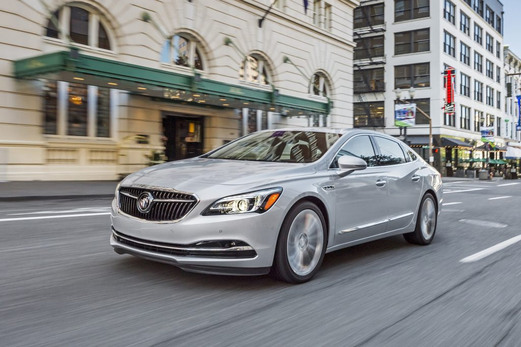 the buick lacrosse is aimed at young seeking a bridge between a mass