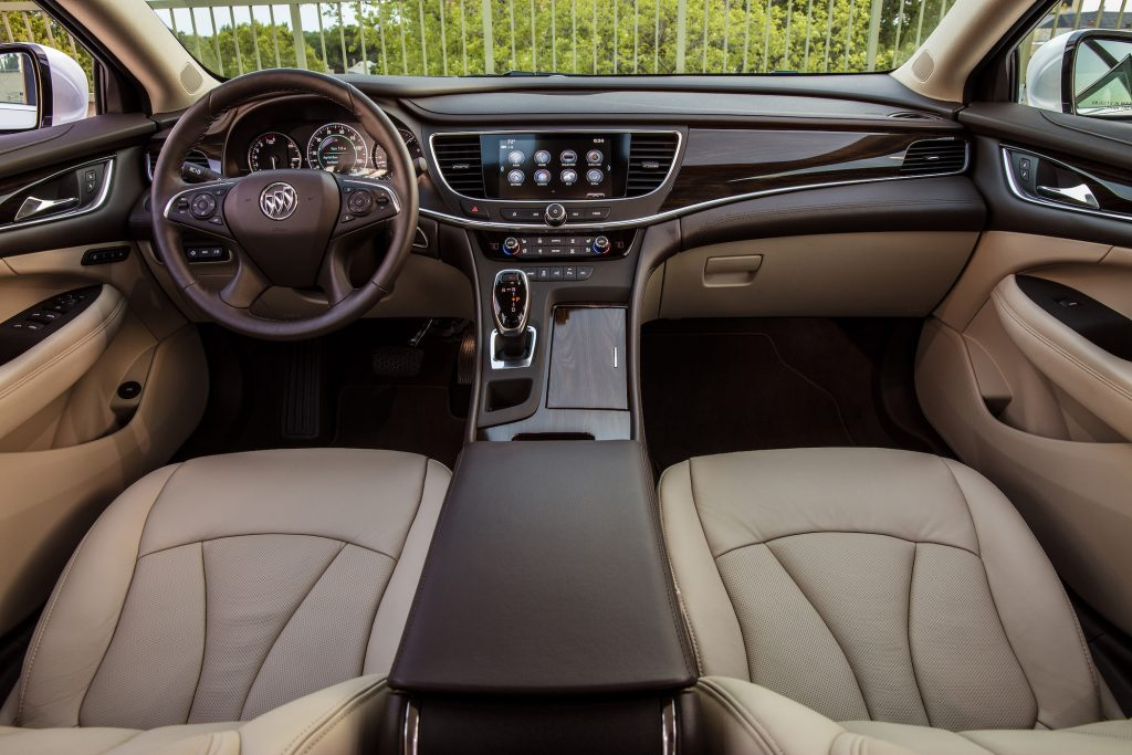 the buick lacrosse has ample knee and legroom and when there is no third