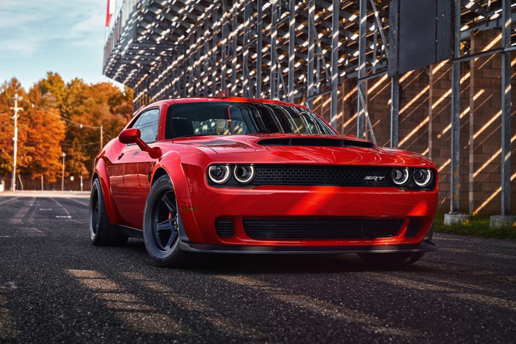 The 2018 Dodge Challenger SRT Demon is the world's first production car to lift the front wheels at launch.
