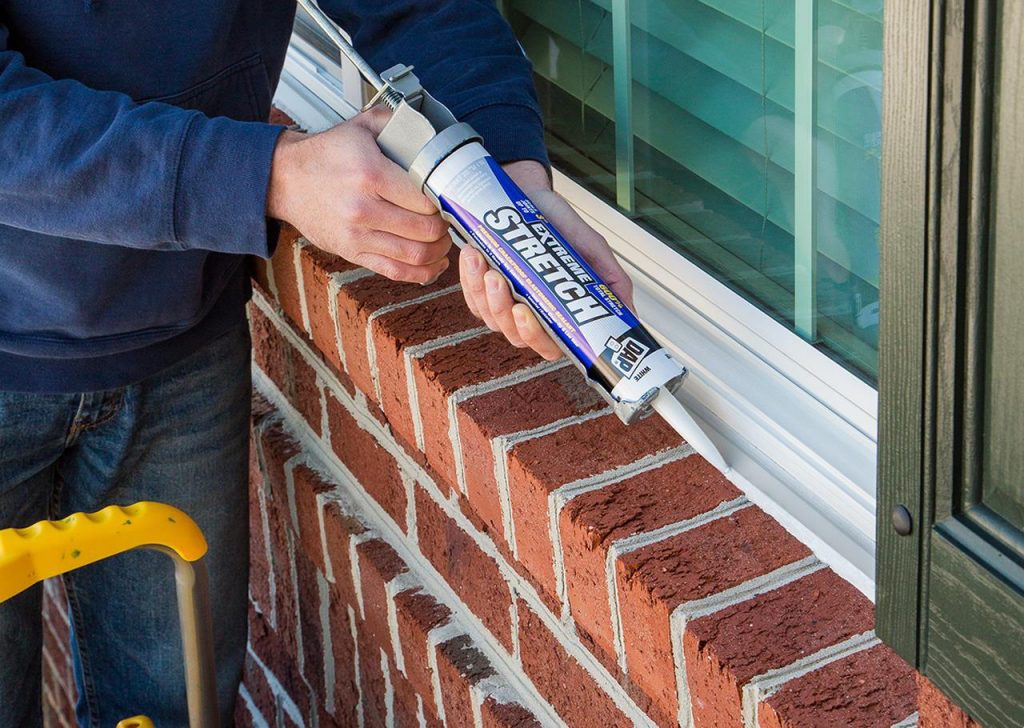 DAP Extreme Stretch is among sealants to use to fill most cracks less than a half-inch in width and depth.