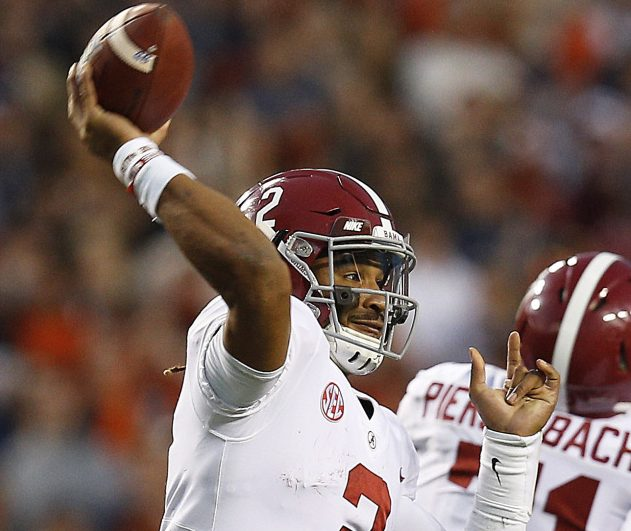 Quarterback Jalen Hurts will be in the national spotlight again when he leads Alabama into the semifinals against Clemson.