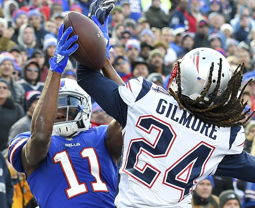 Cornerback Stephon Gilmore denied Buffalo receiver Zay Jones three times on one series last Sunday, forcing a turnover on downs and highlighting another defensive stand in the red zone for the Patriots' defense.