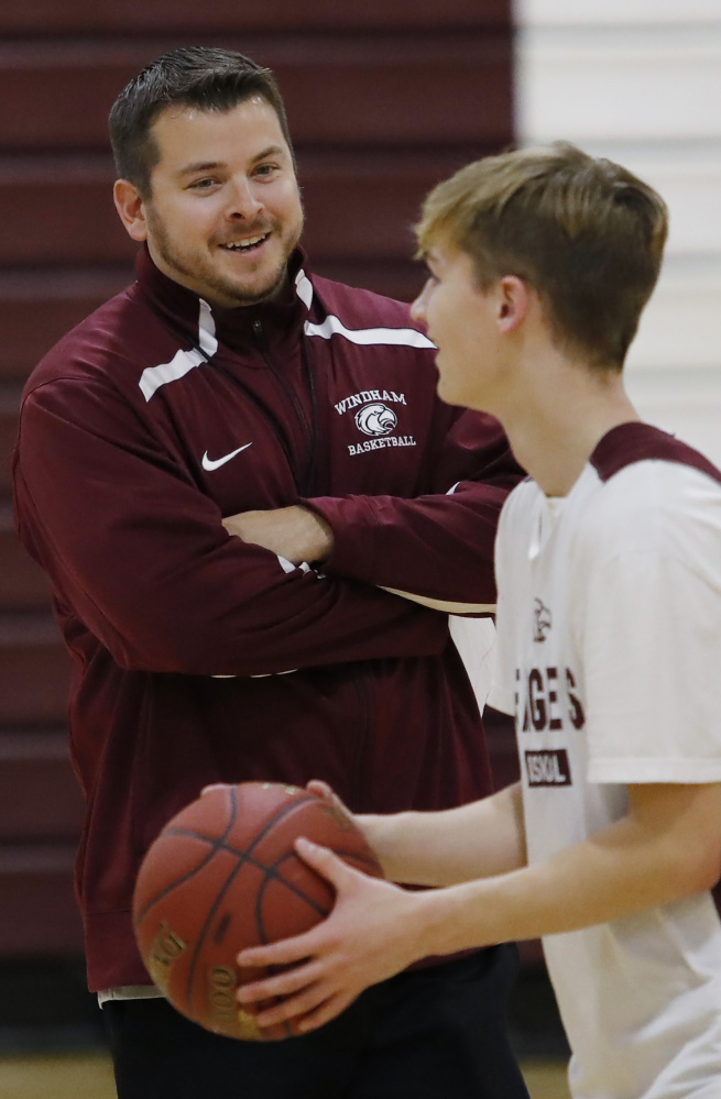 In his third season as the coach at Windham, Chad Pulkkinen has a team, which includes Nick Curtis, right, capable of contending with Portland in Class AA North.