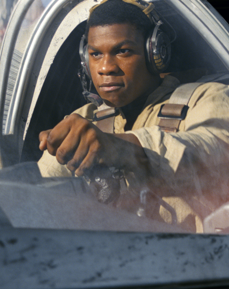 John Boyega plays Finn in