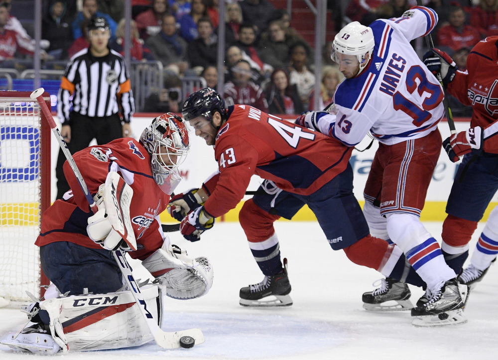 National Hockey League roundup: Capitals top Rangers for fourth straight win