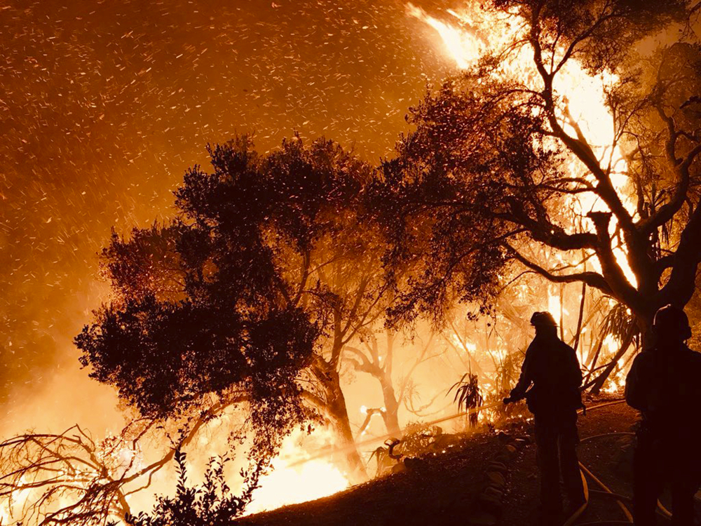 Celebrity enclave under threat from California wildfire