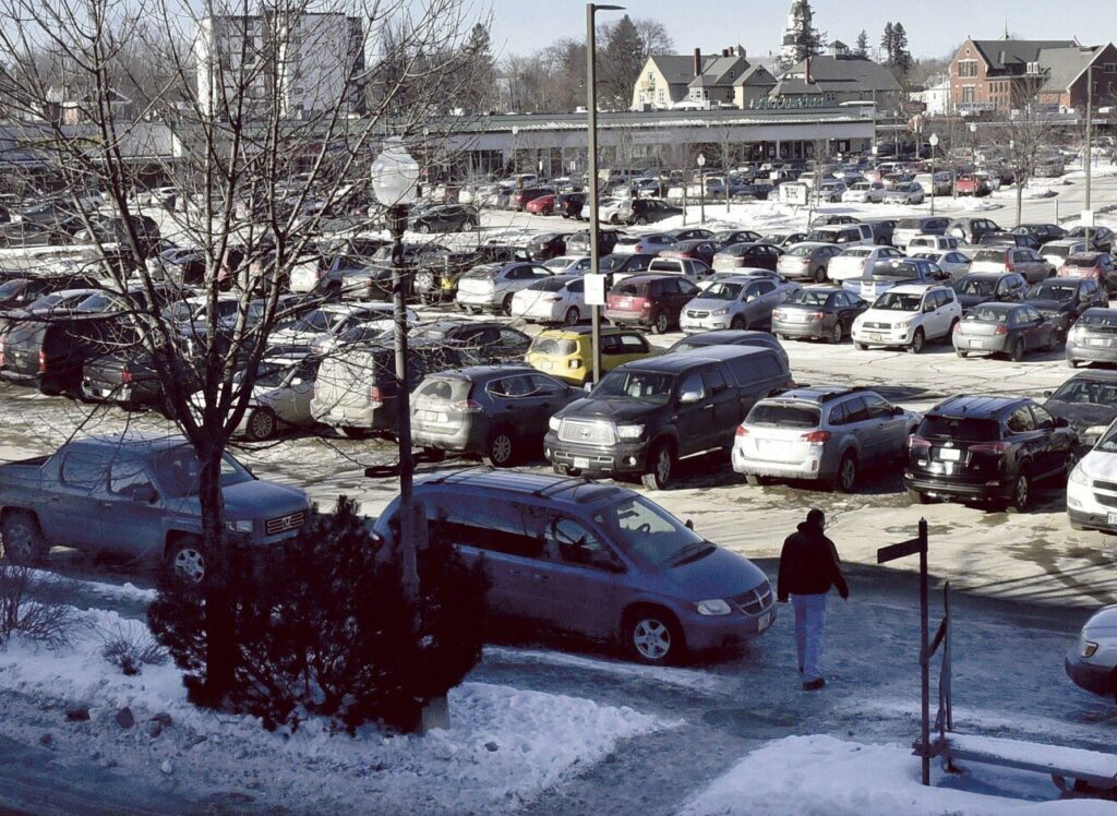 Parking in The Concourse in Waterville, as seen on Jan. 17, 2019.