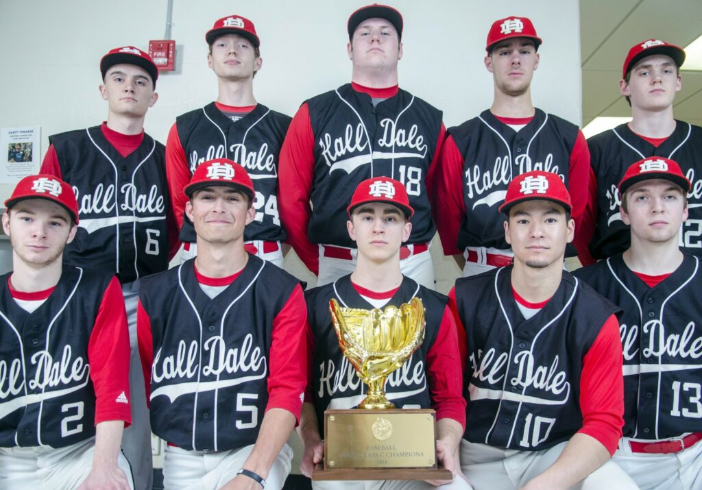 The Hall-Dale baseball team is the defending Class C state champs.