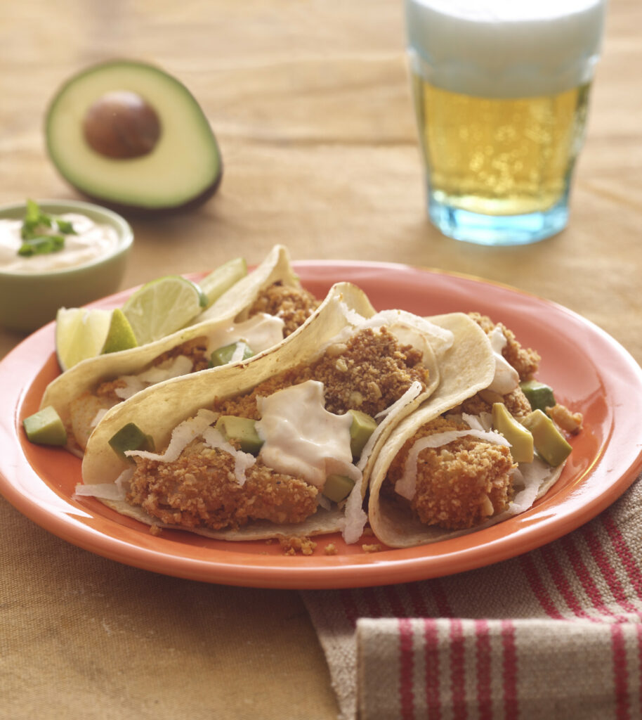 "Crispy Fish Tacos from ""One Pot Recipes"" by Ellen Brown."