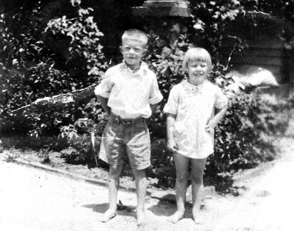Jimmy Carter is shown at age 6, with his sister, Gloria, 4, in 1931 in Plains, Georgia.