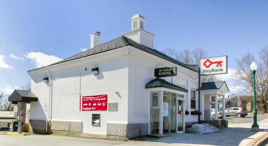 The KeyBank branch, on Thursday, at the corner of Main and Morton streets in Winthrop.