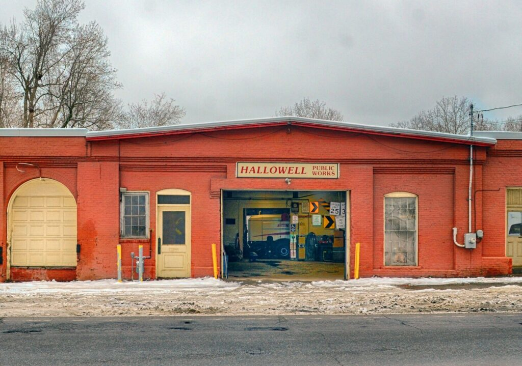 This photo taken Tuesday shows the Hallowell Public Works garage on Water Street, just south of downtown Hallowell.