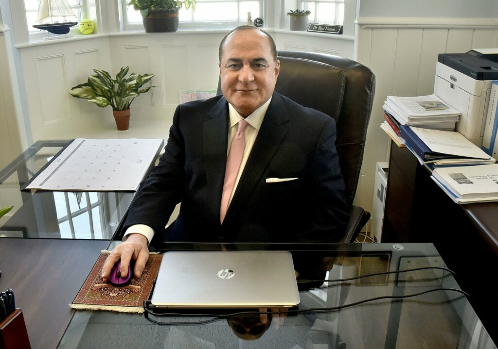 Superintendent Reza Namin, shown on Jan. 17 in his office in Fairfield.
