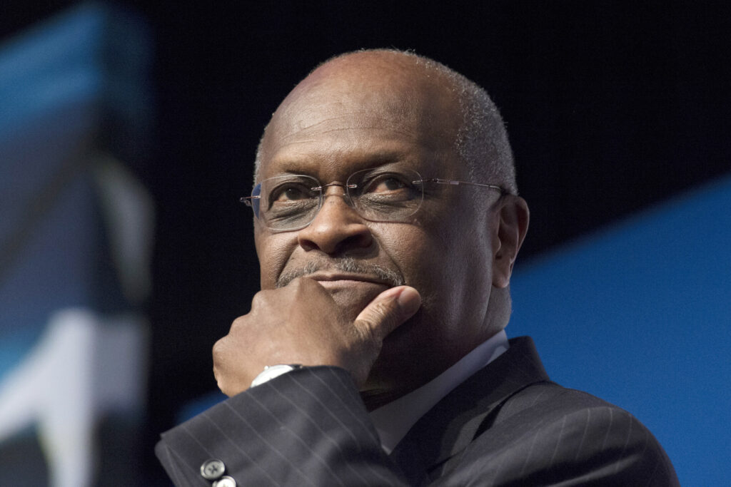 Four Senate Republicans said this month that they oppose the nomination of Herman Cain to the Federal Reserve's seven-member board. Cain is no longer a candidate for the board, the president tweeted Monday.