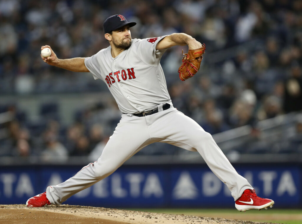 The Boston Red Sox placed starting pitcher Nathan Eovaldi on the injured list with loose bodies in his right elbow.