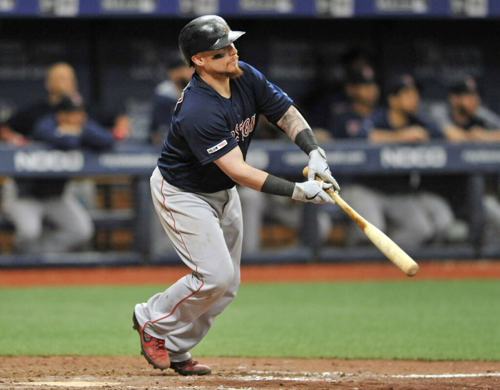 Boston's Christian Vazquez has four home runs in April – the most for a Red Sox catcher since 2012.