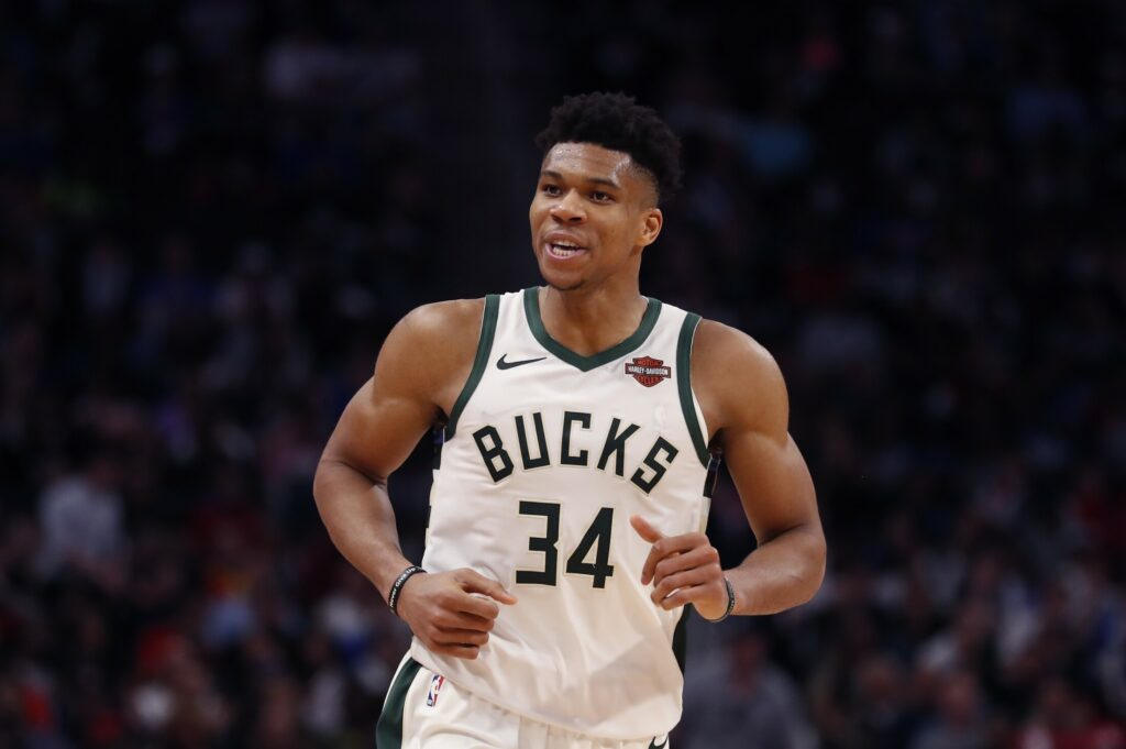 Giannis Antetokounmpo and the Milwaukee Bucks swept the Detroit Pistons on Monday night to earn an Eastern Conference second-round matchup with the Boston Celtics.