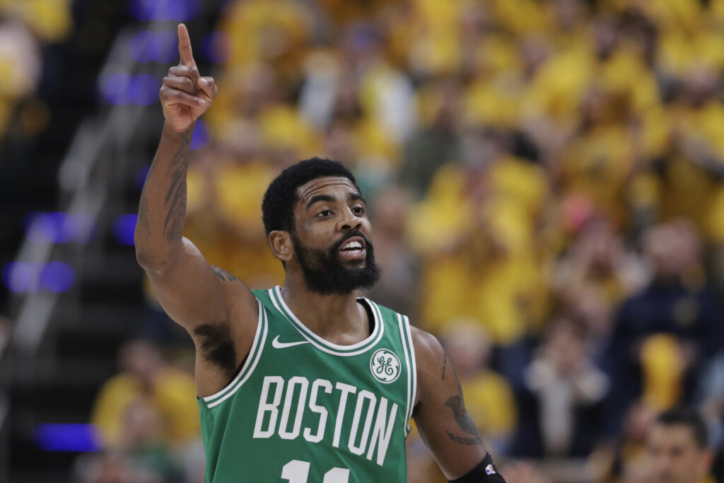 Kyrie Irving scored 19 points in the Celtics' 104-96 win over the Indiana Pacers on Friday night. The win gave Boston a 3-0 series lead and it has a chance to clinch the series in Indianapolis on Sunday.