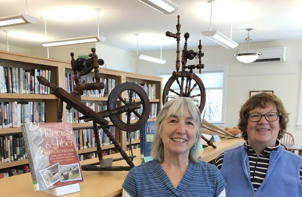 Brenda Page, left, with Jan Cunningham, will give a talk about Maine's antique spilling wheels at 6:30 p.m. Wednesday, April 24, at Vose Library, 392 Common Road, Union.