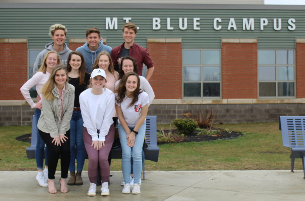 Mt. Blue High School in Farmington has announced its top 10 seniors for the class of 2019. Front from left are  Marielle Pelletier, Alexys Greenman and Katherine Brittain. Middle row from left are Elysia Roorbach, Chelsea Seabold, Hallie Pike and Maeve Hickey. Back row from left are Ryan Haszko, Samuel Smith and Zachary Gunther.