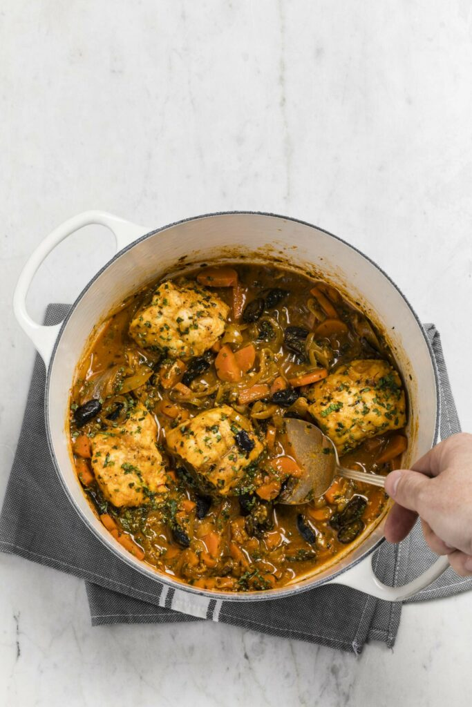 """Monkfish tagine from """"How to Braise Everything."""""""
