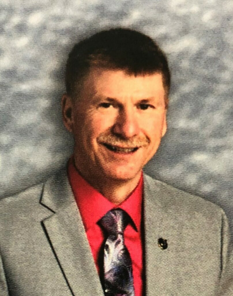 Lawrence High School Principal Mark Campbell, as he appears in the school's 2018 yearbook.