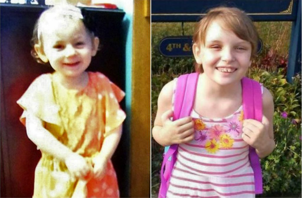 Kendall Chick, 4, of Wiscasset and Marissa Kennedy, 10, of Stockton Springs.
