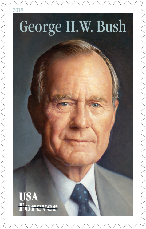 A new U.S. post stamp will feature a portrait of President George H.W. Bush.
