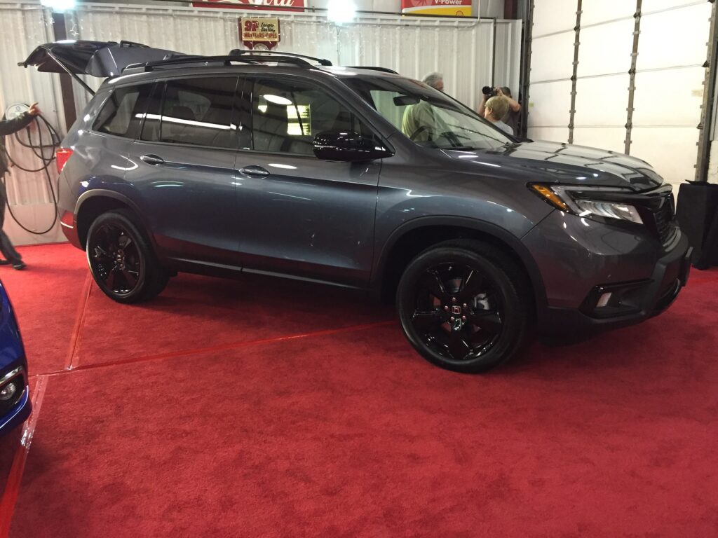 The new Honda Passport receives attention at a meet-the-press event in Middleboro, Mass., last week. Photo by Tim Plouff.