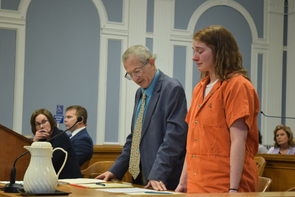Savannah Smith stands next to her attorney, Jeffrey Silverstein, during a bail hearing Monday.