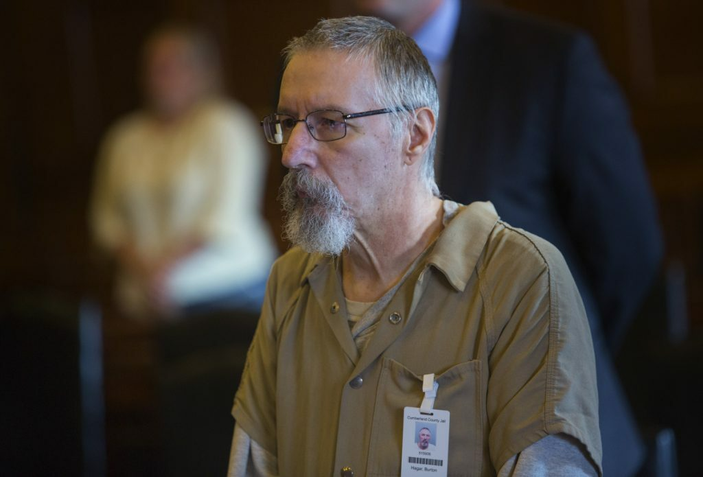 Burton Hagar, seen in this file photo, pleaded guilty to manslaughter in the death of his infant son, Nathan Hagar, in 1979, but is appealing his conviction.