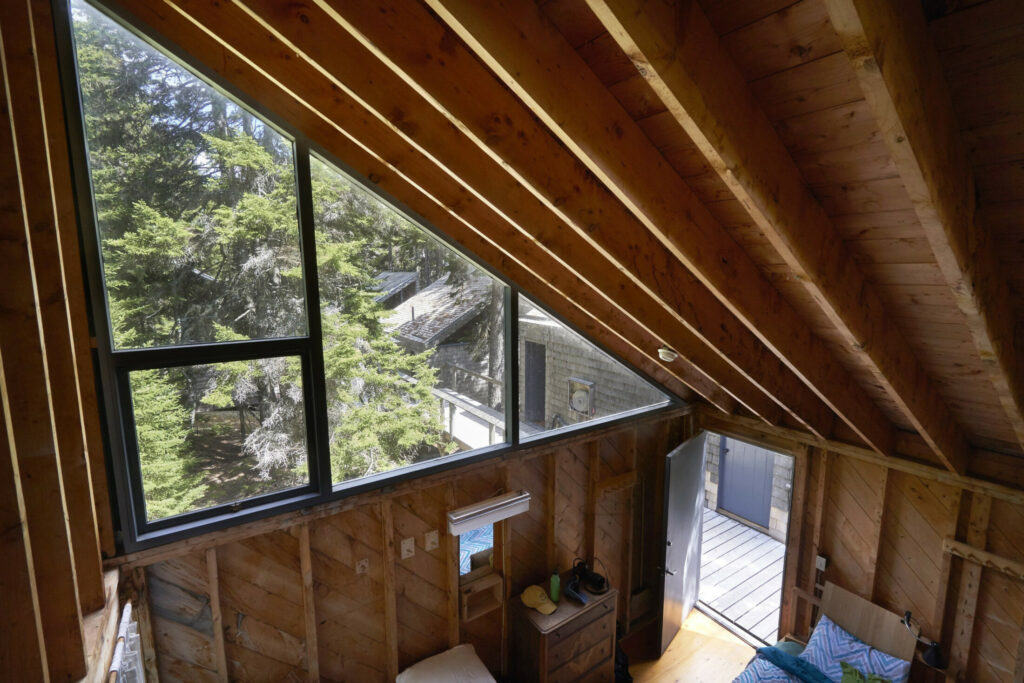 The view from the loft of a sleeping cabin at Haystack Mountain School of Crafts in Deer Isle, which will host a workshop for Maine LGBTQ youth.