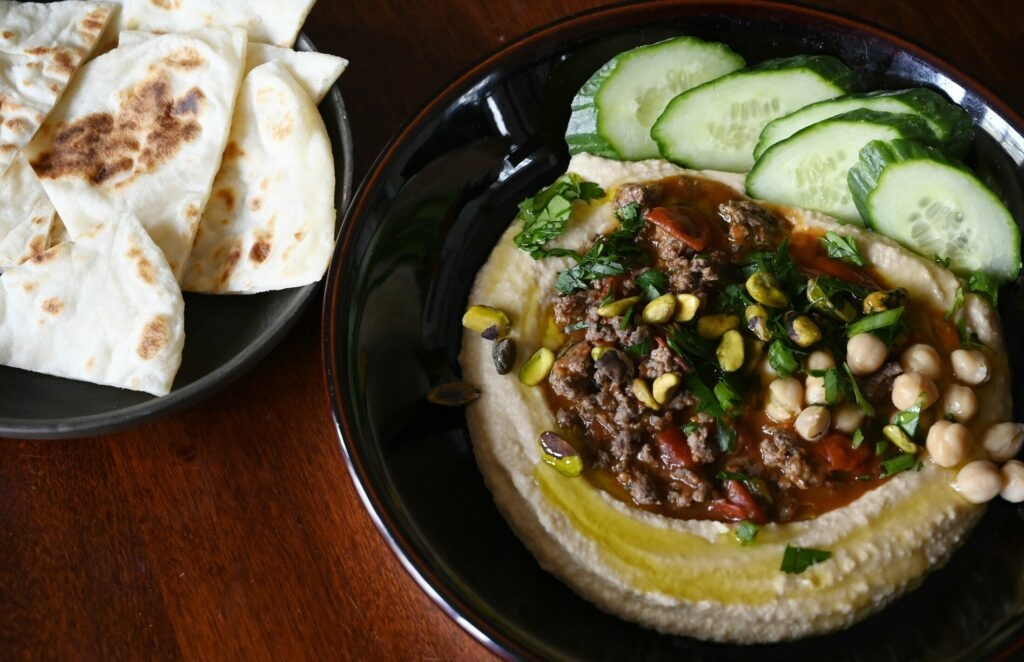 In Hummus Kawarma, a little lamb goes a long way.