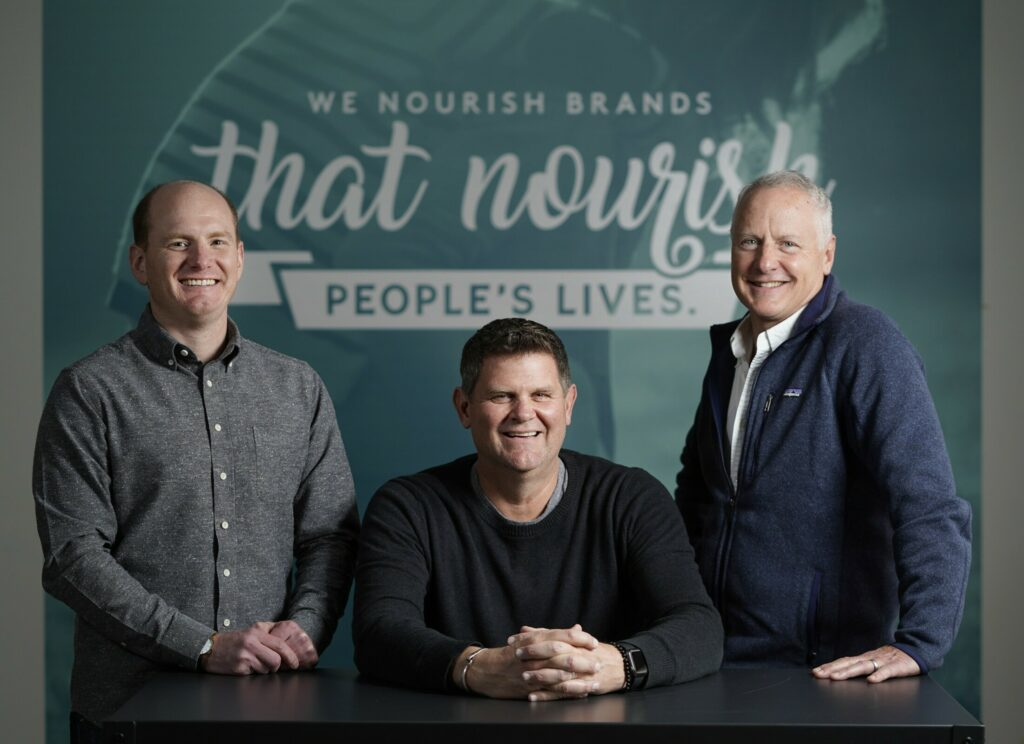 From left, Anthony DeBery, Kevin Moehlenkamp and Matt Stiker are heading up the advertising agency Garrand Moehlenkamp after founder Brenda Garrand retires. They want it to be the pre-eminent food and beverage ad agency and say that Portland is a big part of their own marketing. DeBery is chief operating officer, Moehlenkamp is the CEO and chief creative officer and Stiker is the president.